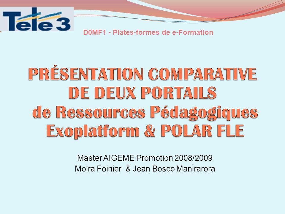 D0MF1 - Plates-formes de e-Formation
