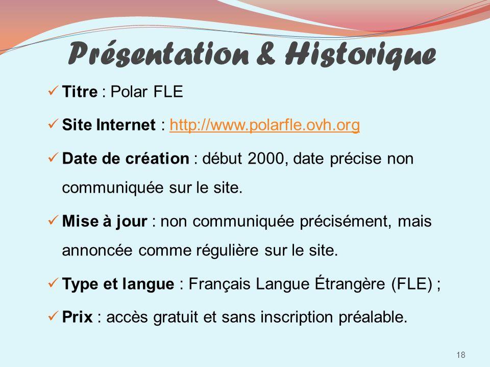 Présentation & Historique