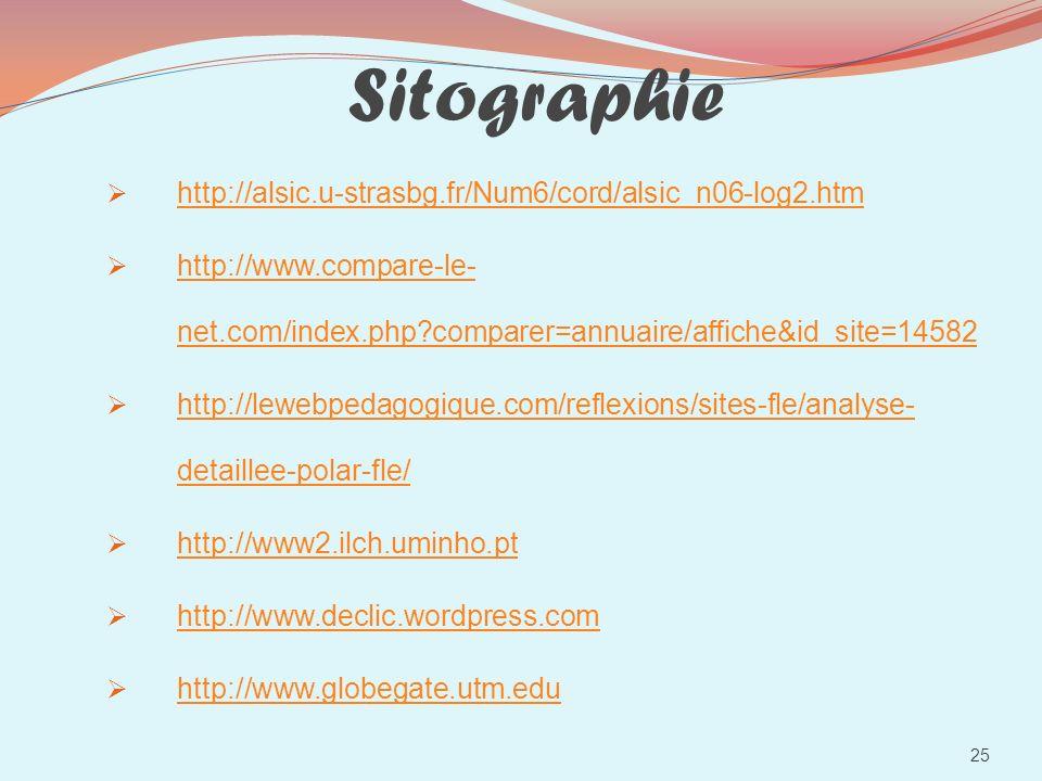 Sitographie http://alsic.u-strasbg.fr/Num6/cord/alsic_n06-log2.htm