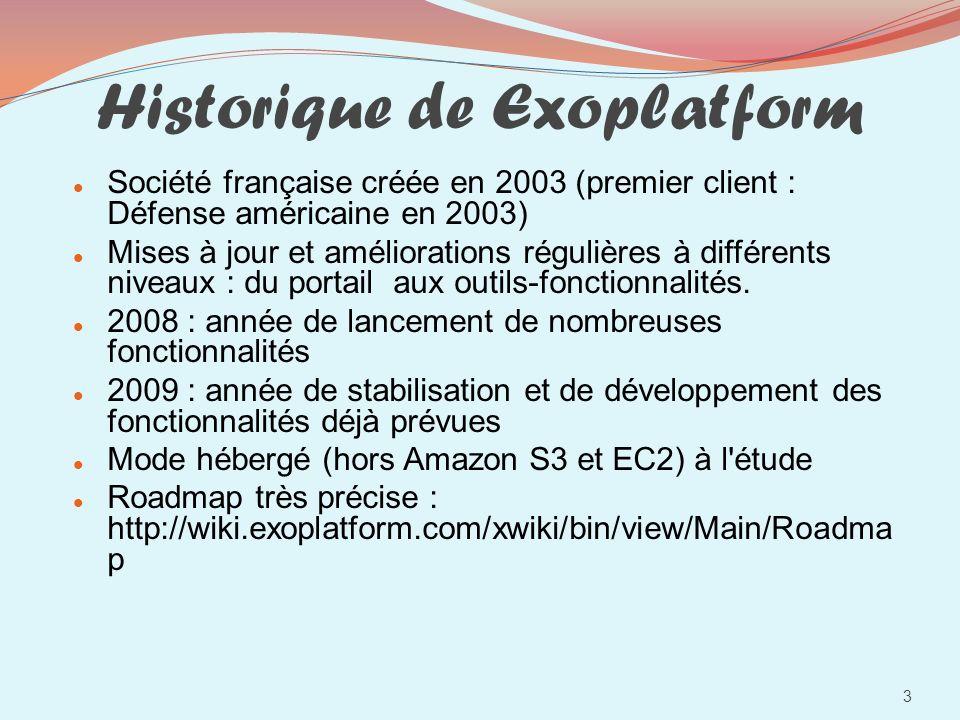 Historique de Exoplatform