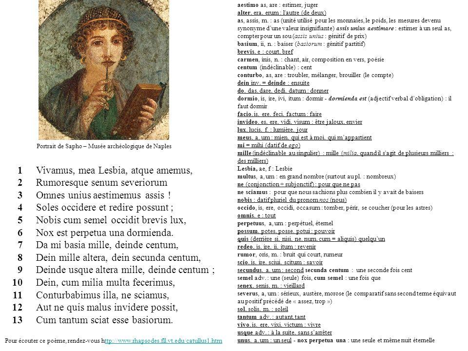 Portrait de Sapho – Musée archéologique de Naples