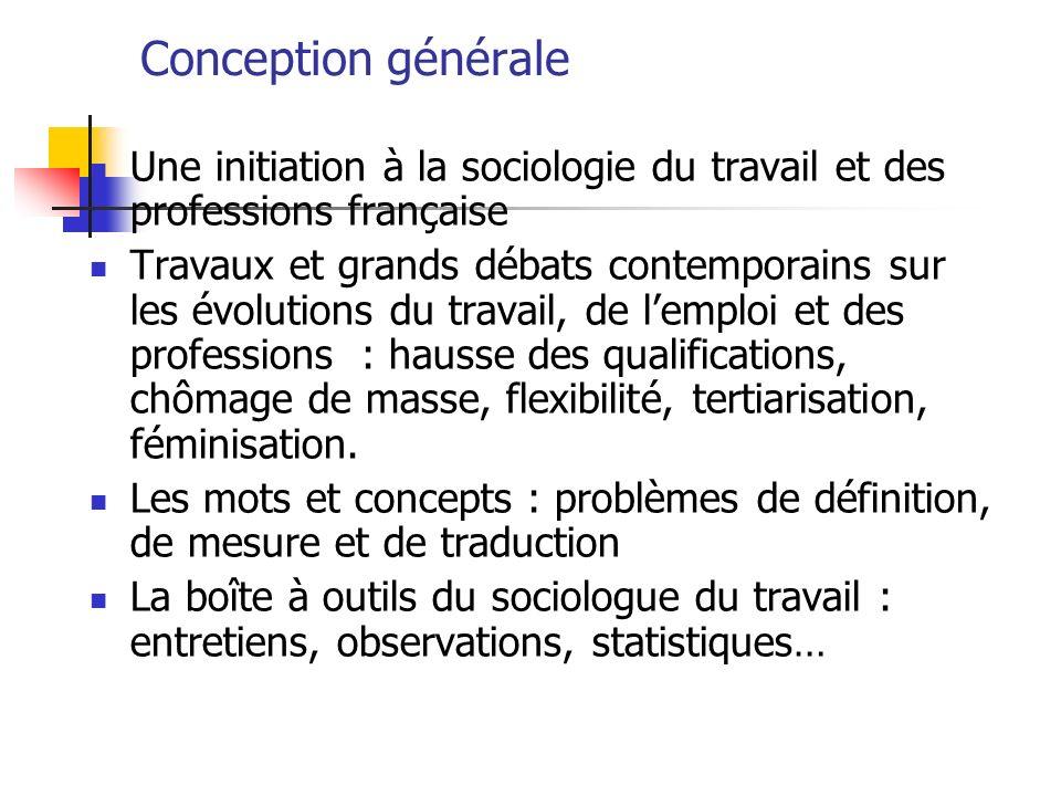 Conception générale Une initiation à la sociologie du travail et des professions française.