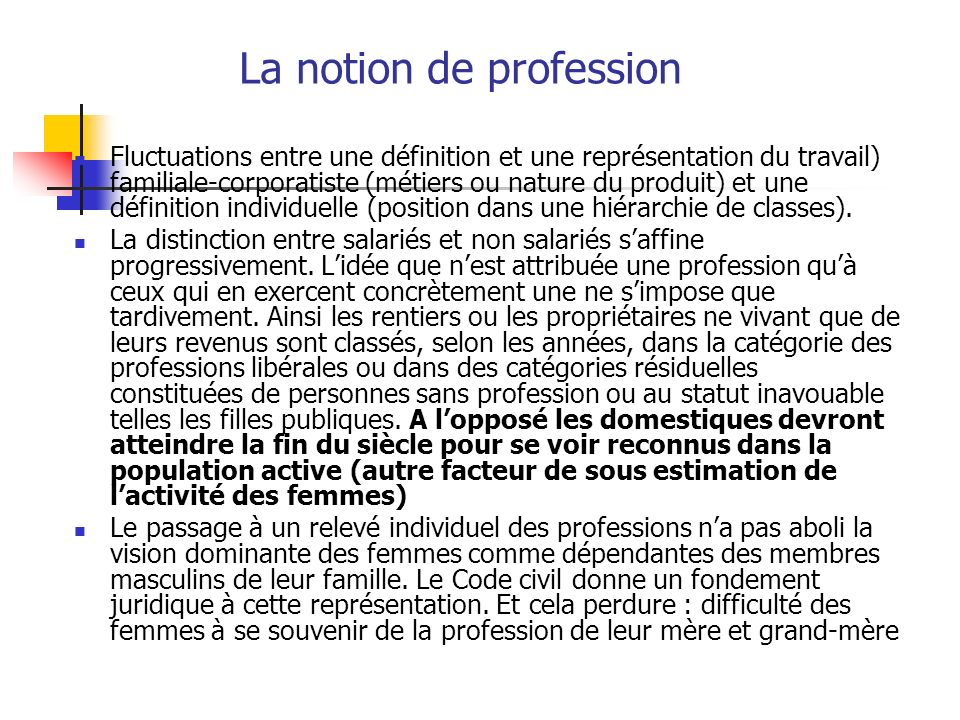 La notion de profession