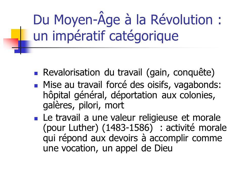 Du Moyen-Âge à la Révolution : un impératif catégorique