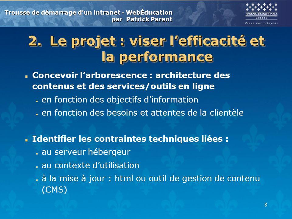 Trousse de d marrage d un intranet ppt video online for Concevoir un porche en ligne