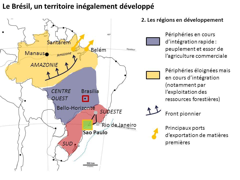 Le Brésil, un territoire inégalement développé