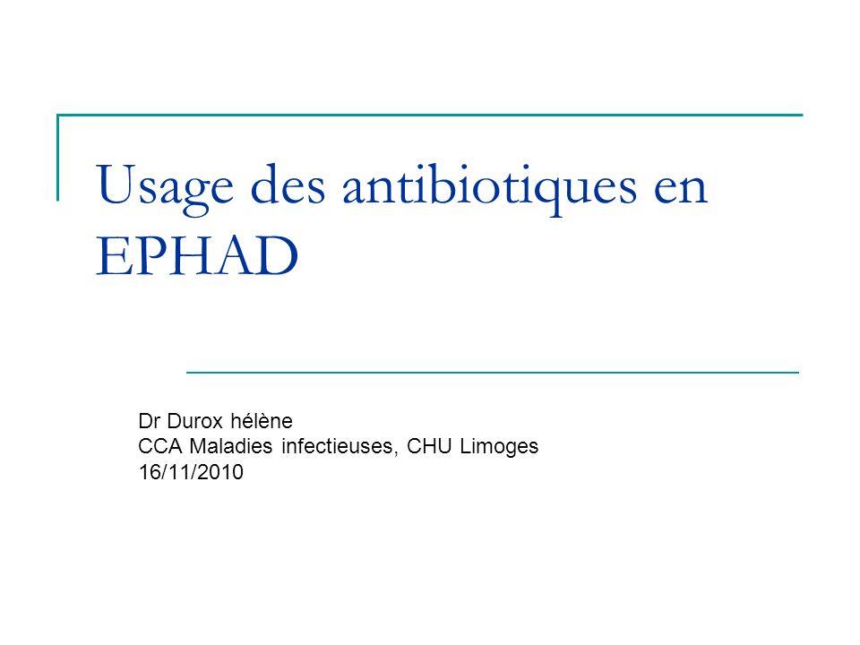 Usage des antibiotiques en EPHAD
