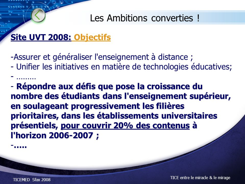 Les Ambitions converties !
