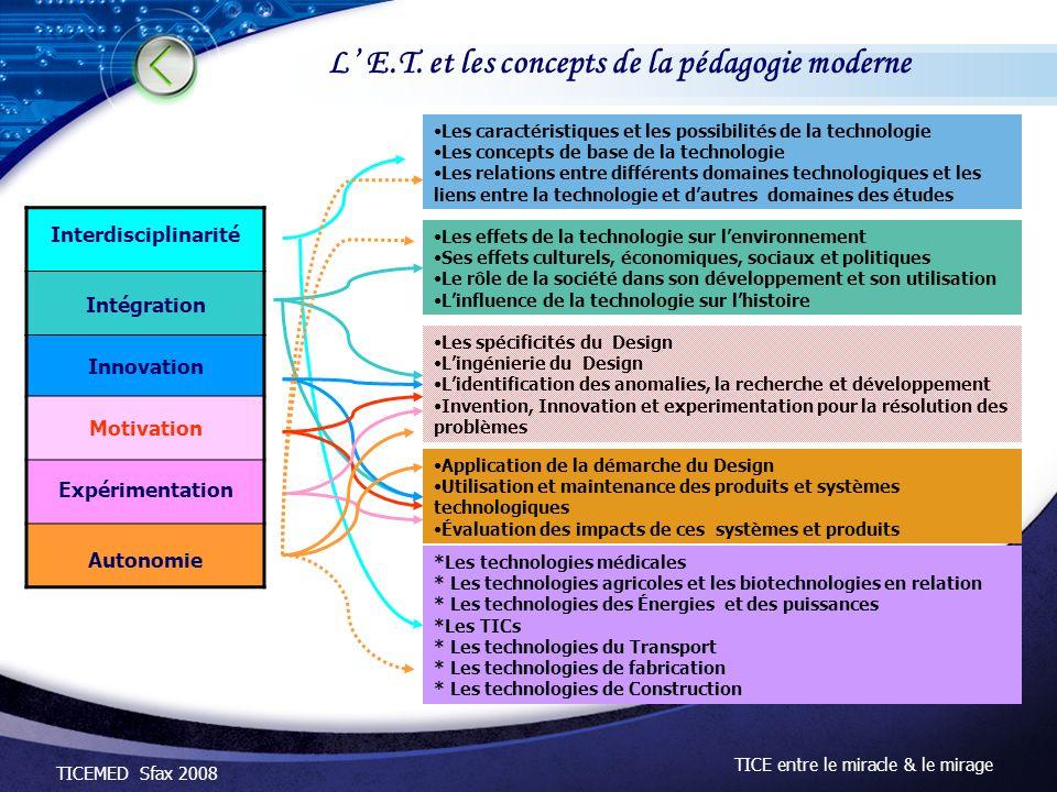 L' E.T. et les concepts de la pédagogie moderne
