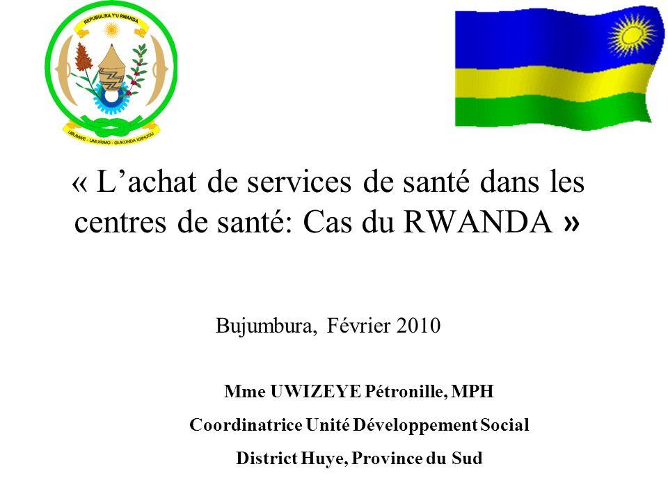 « L'achat de services de santé dans les centres de santé: Cas du RWANDA »