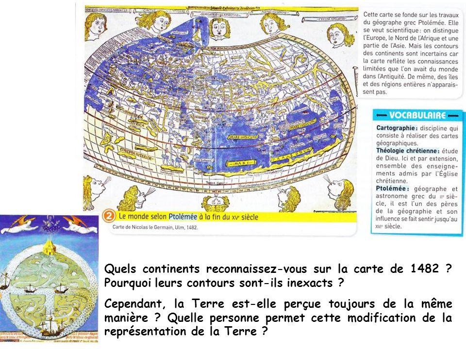 Quels continents reconnaissez-vous sur la carte de 1482