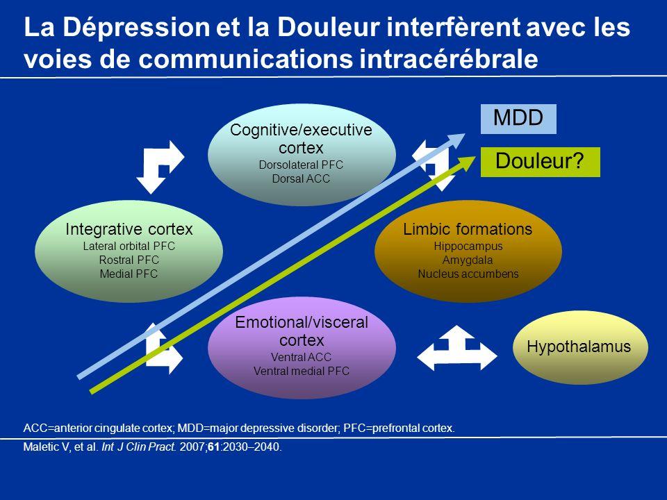La Dépression et la Douleur interfèrent avec les voies de communications intracérébrale