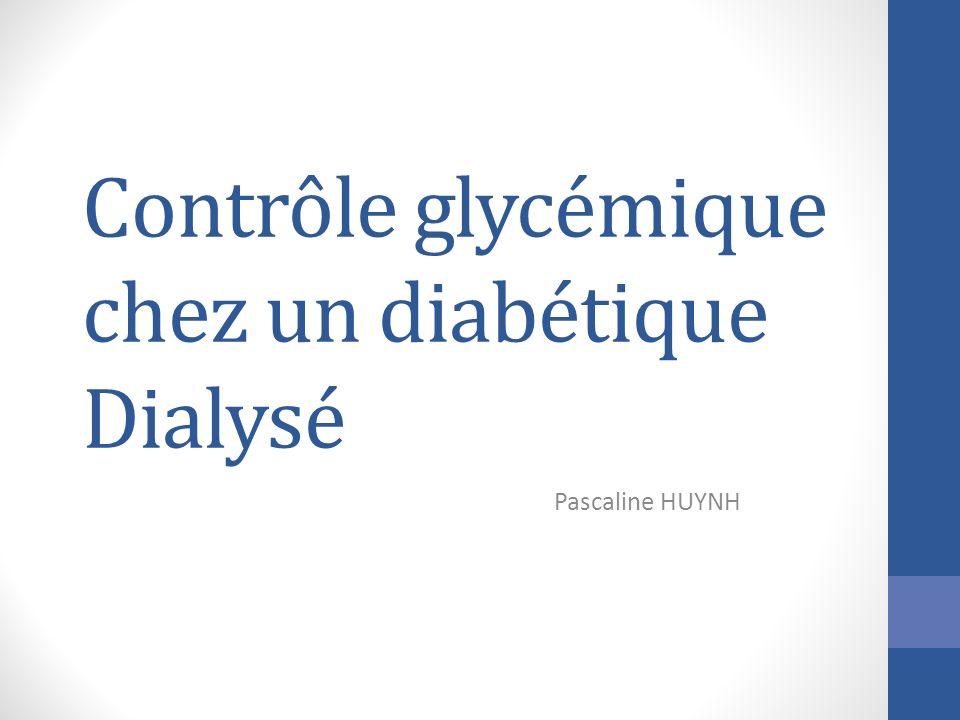 Contrôle glycémique chez un diabétique Dialysé