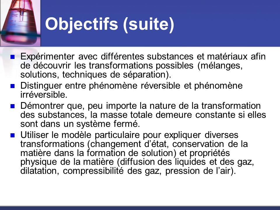 Objectifs (suite)