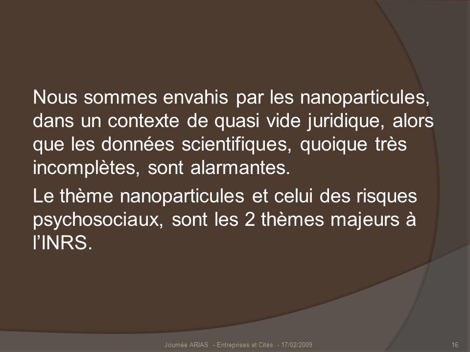 Journée ARIAS - Entreprises et Cités - 17/02/2009