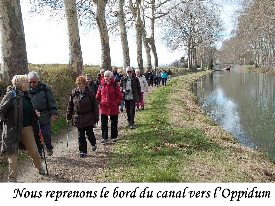 Nous reprenons le bord du canal vers l'Oppidum