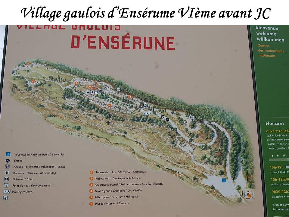 Village gaulois d'Ensérume VIème avant JC
