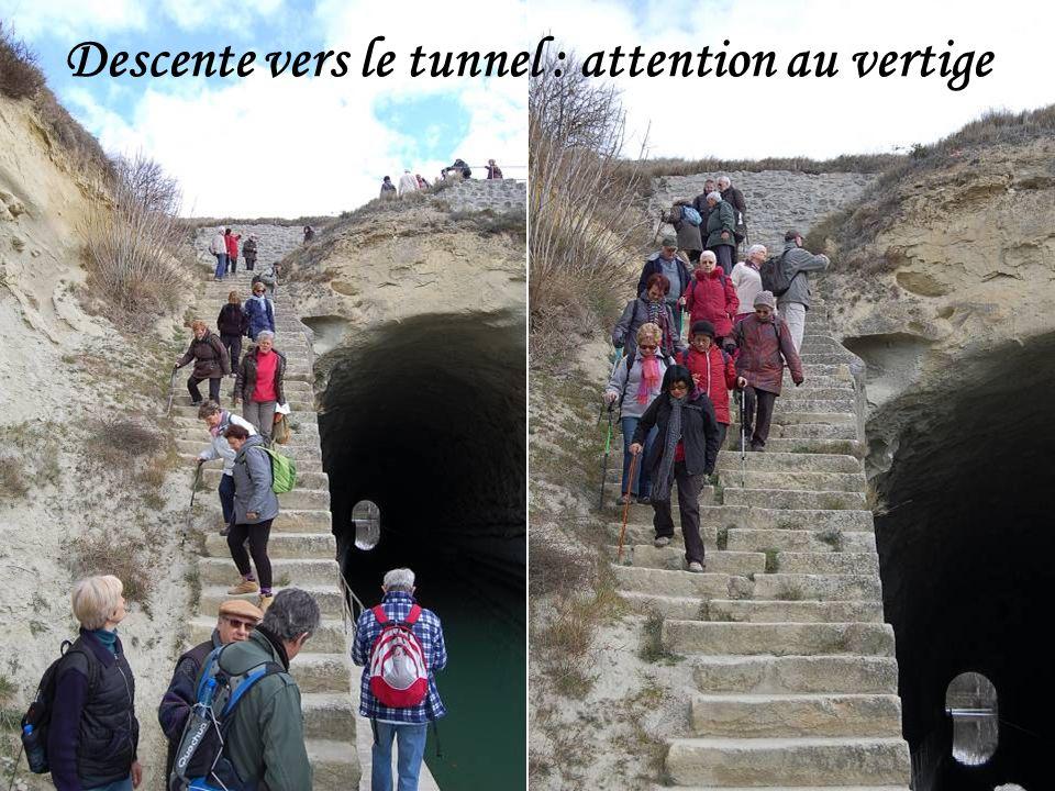 Descente vers le tunnel : attention au vertige