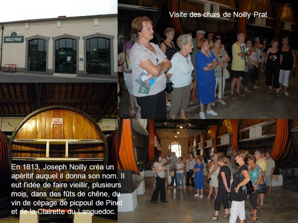Visite des chais de Noilly Prat