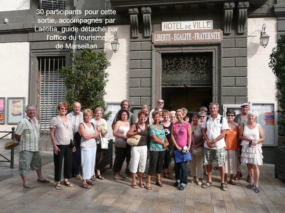 30 participants pour cette sortie, accompagnés par Laëtitia, guide détaché par l'office du tourisme