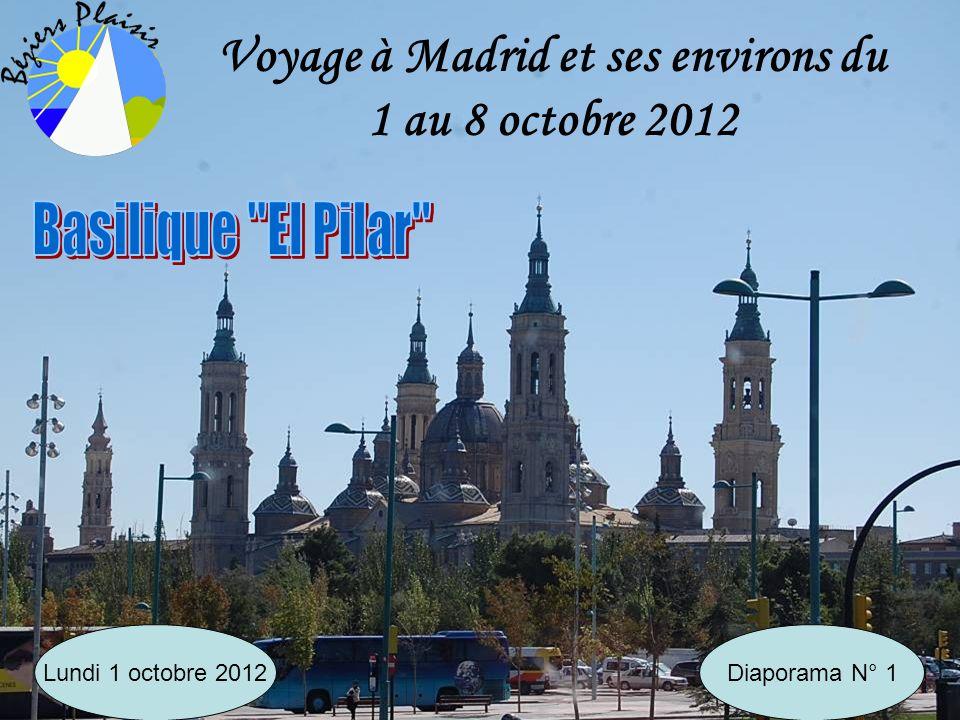 Voyage à Madrid et ses environs du 1 au 8 octobre 2012