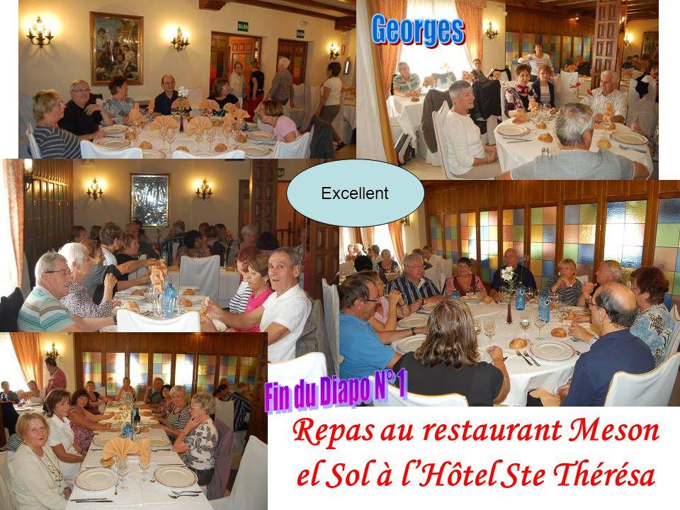 Repas au restaurant Meson el Sol à l'Hôtel Ste Thérésa