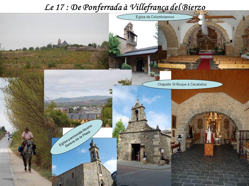 Le 17 : De Ponferrada à Villefranca del Bierzo