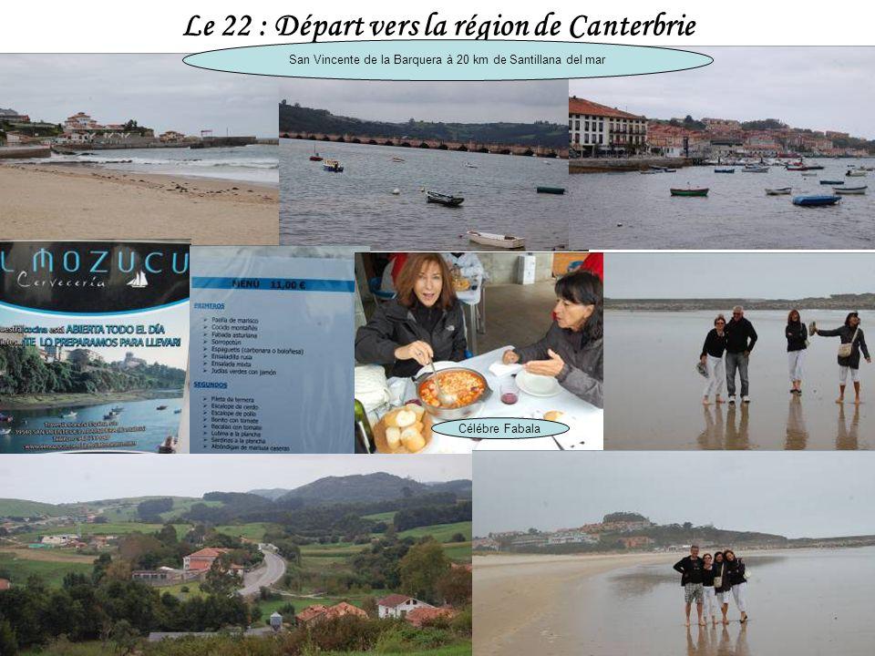 Le 22 : Départ vers la région de Canterbrie