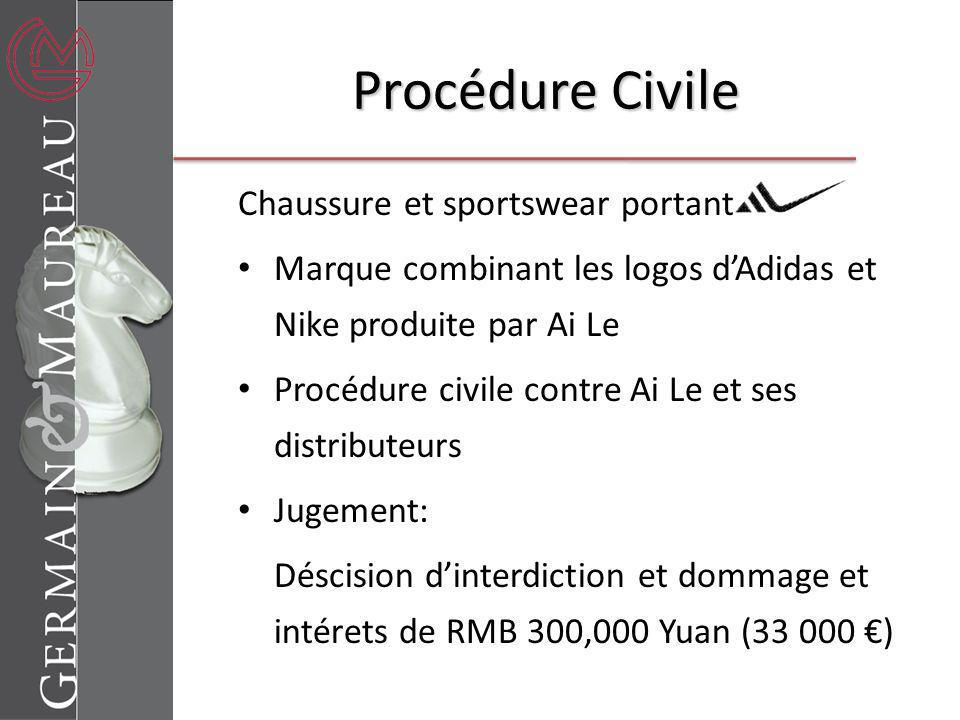 Procédure Civile Chaussure et sportswear portant
