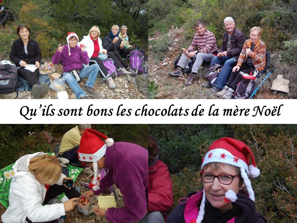 Qu'ils sont bons les chocolats de la mère Noël