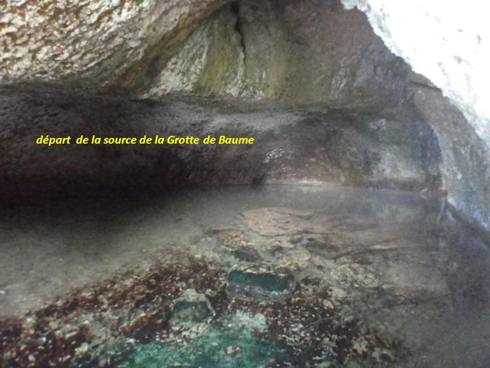 départ de la source de la Grotte de Baume