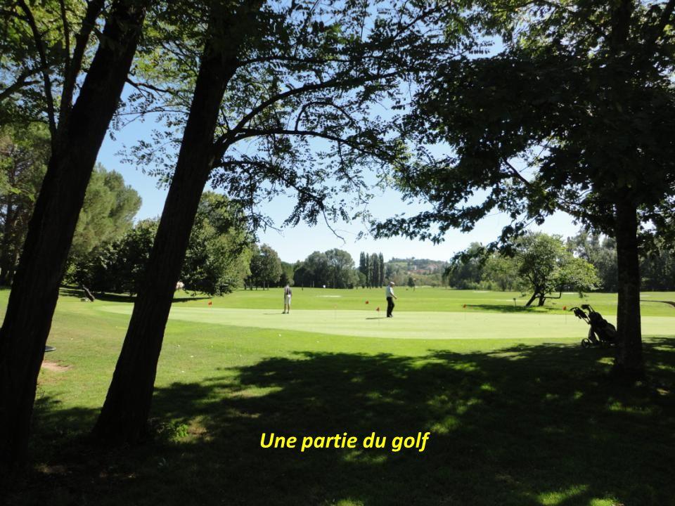 Une partie du golf
