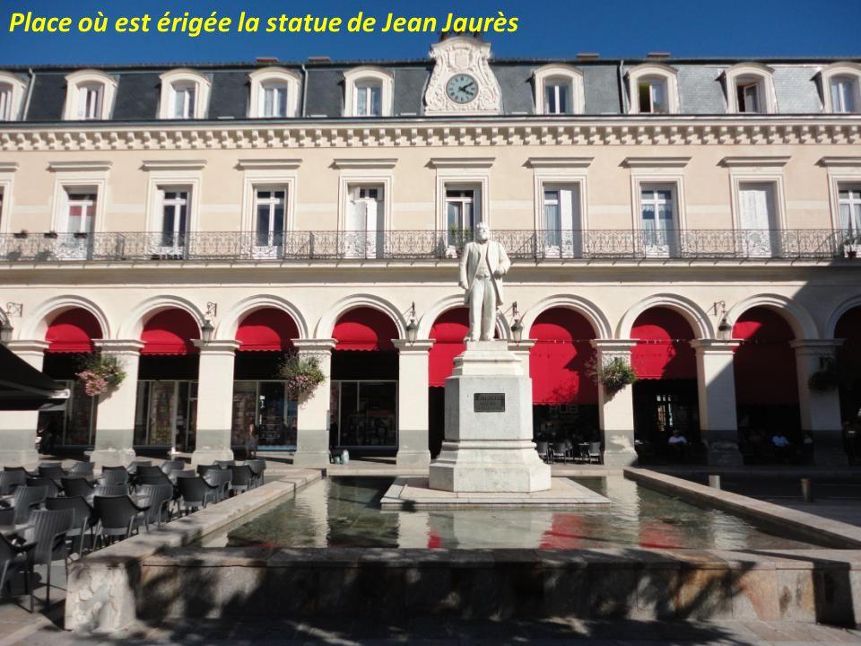 Place où est érigée la statue de Jean Jaurès