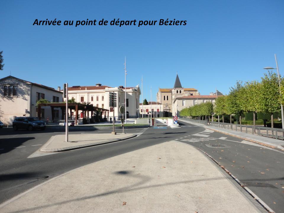 Arrivée au point de départ pour Béziers
