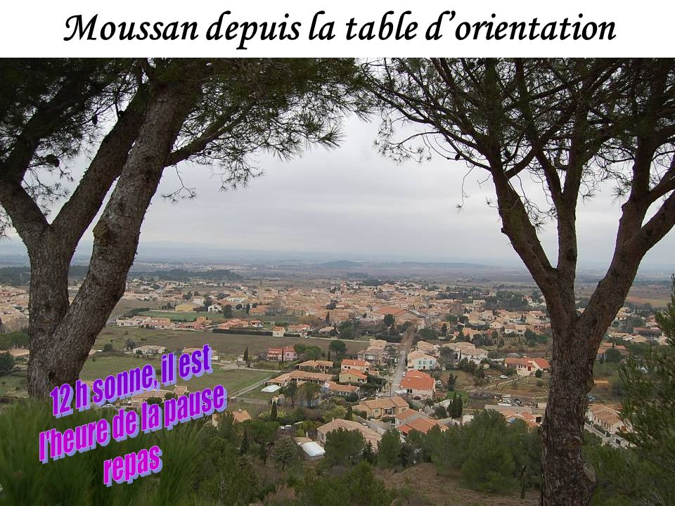 Moussan depuis la table d'orientation