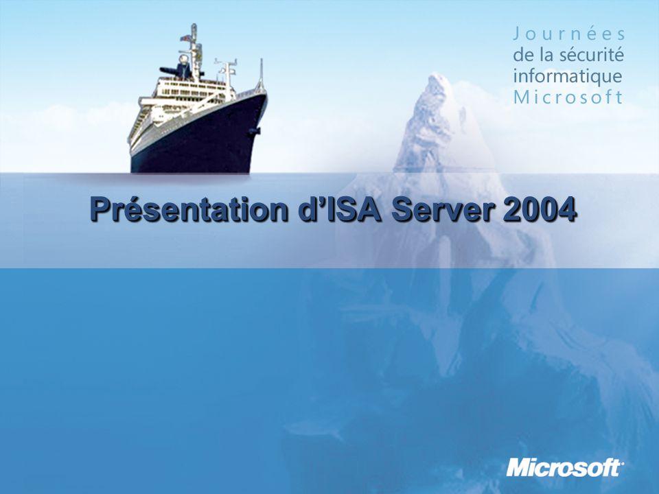 Présentation d'ISA Server 2004