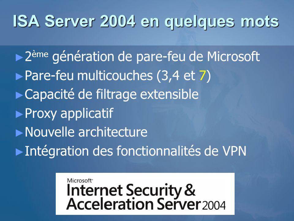 ISA Server 2004 en quelques mots