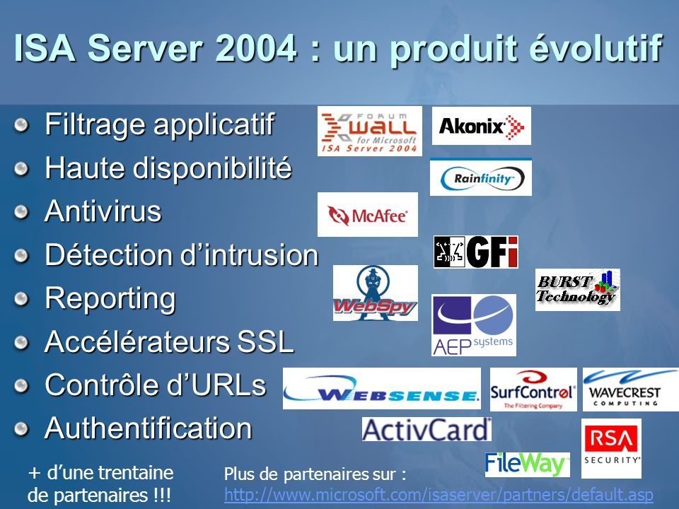 ISA Server 2004 : un produit évolutif