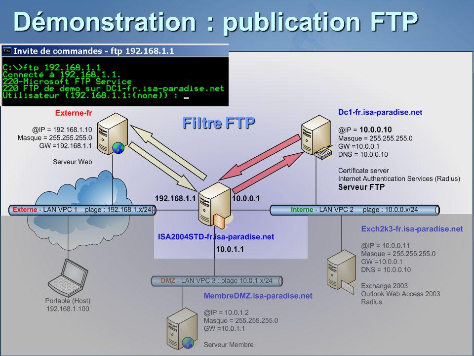 Démonstration : publication FTP