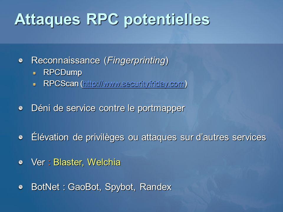 Attaques RPC potentielles