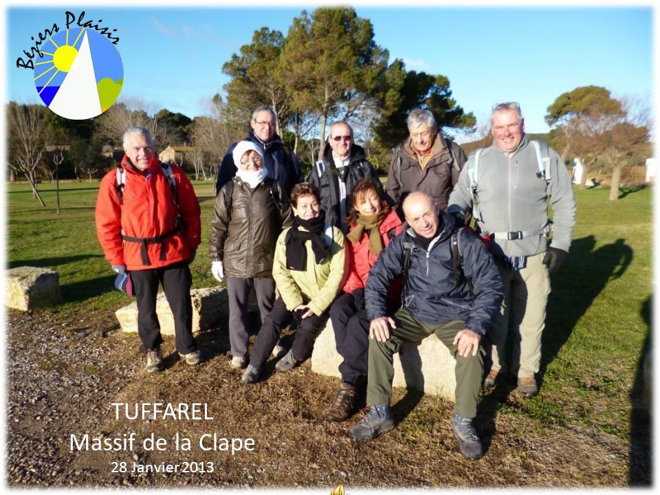 TUFFAREL Massif de la Clape 28 Janvier 2013