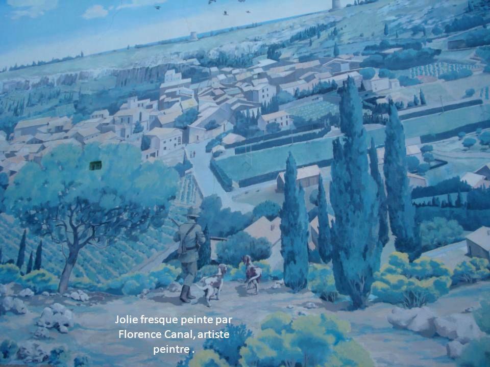 Jolie fresque peinte par Florence Canal, artiste peintre .