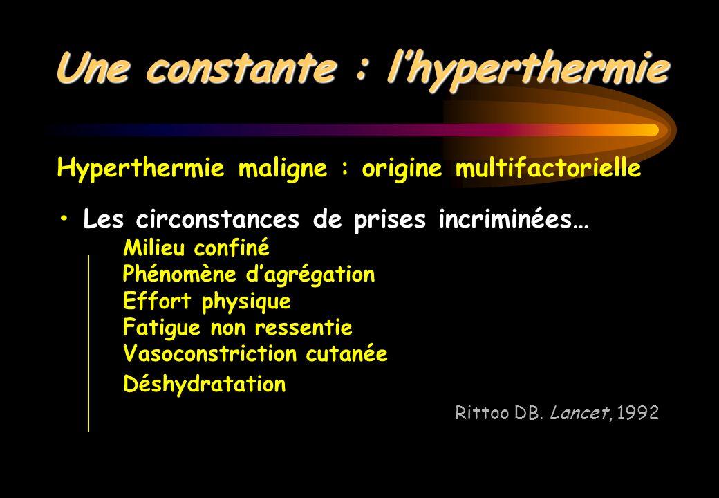 Une constante : l'hyperthermie