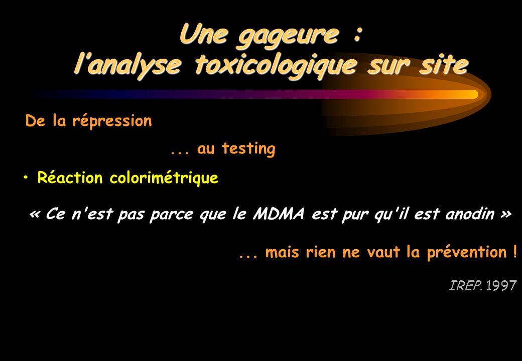 l'analyse toxicologique sur site
