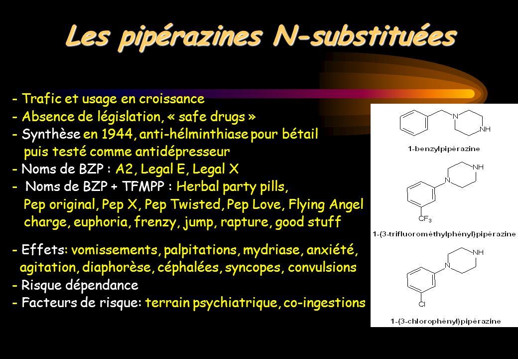 Les pipérazines N-substituées