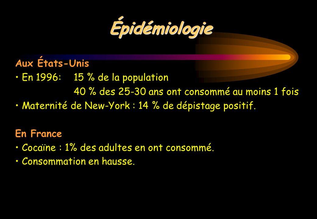 Épidémiologie Aux États-Unis • En 1996: 15 % de la population