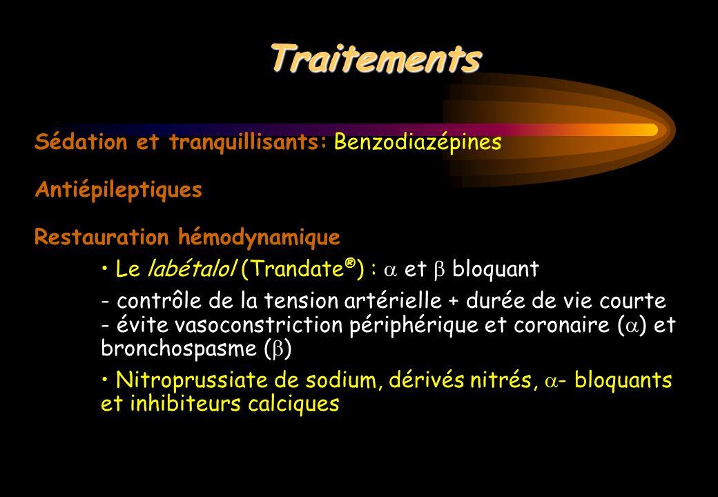 Traitements Sédation et tranquillisants: Benzodiazépines