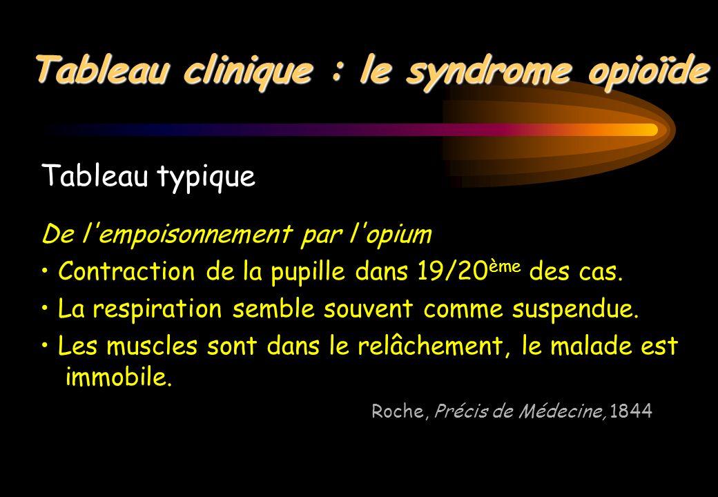 Tableau clinique : le syndrome opioïde