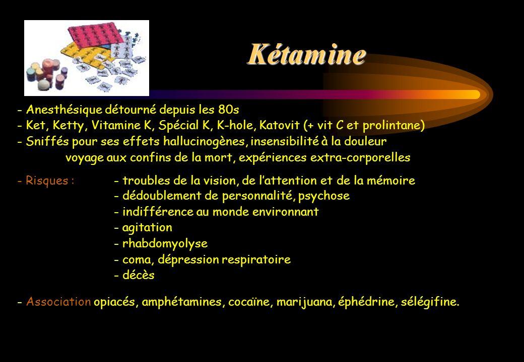 Kétamine - Anesthésique détourné depuis les 80s