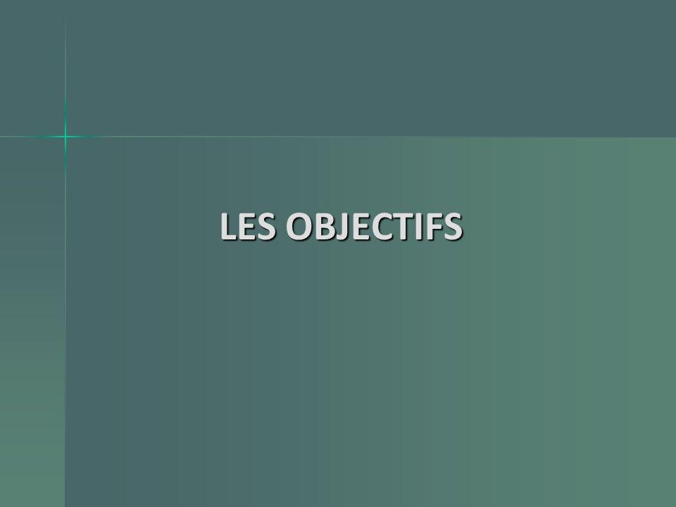 LES OBJECTIFS